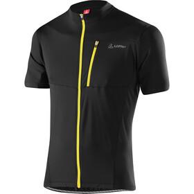 Löffler Rocky Full-Zip Bike Shirt Men schwarz/zitrone